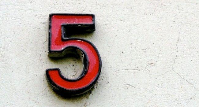 Numerologija – broj 5
